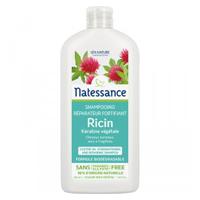 Shampoing réparateur et fortifiant à la kératine et au ricin, sans sulfate, sans paraben  Natessance