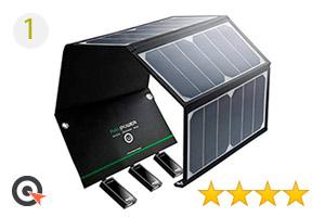 RAVPower 24W Chargeur Panneau Solaire