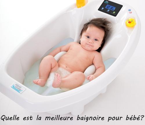 quelle est la meilleure baignoire pour bébé