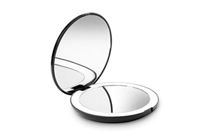 Miroir de poche grossissant lumineux de fancii