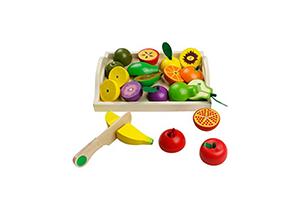 Jerryvon Jouets de Coupe de Légumes en Bois pour fille